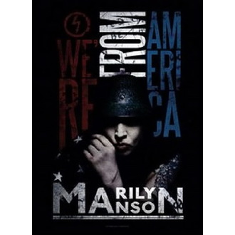 Steag Marilyn Manson - American Graffiti, HEART ROCK, Marilyn Manson