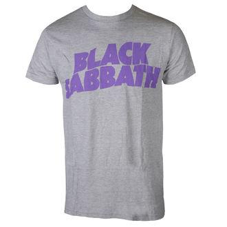 tricou stil metal bărbați Black Sabbath - PURPLE LGO T GRY - BRAVADO