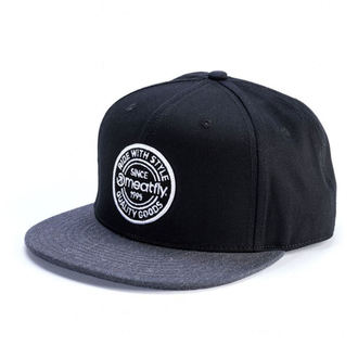 Șapcă MEATFLY - COMP SNAPBACK C - BLACK / DARK HEATHER, MEATFLY