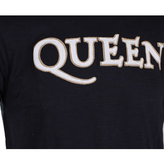 tricou stil metal bărbați Queen - Logo & Crest - ROCK OFF, ROCK OFF, Queen