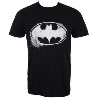 tricou cu tematică de film bărbați Batman - LOGO MONO DISTRESSED - LIVE NATION, LIVE NATION