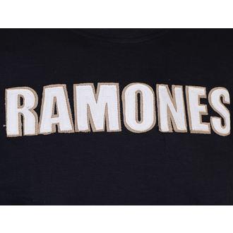 tricou stil metal bărbați Ramones - Logo & Seal Applique Slub - ROCK OFF, ROCK OFF, Ramones