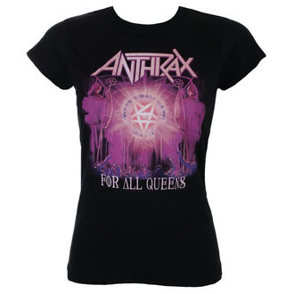tricou stil metal femei Anthrax - For All Queens - ROCK OFF, ROCK OFF, Anthrax