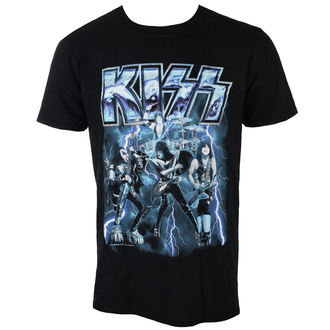 tricou stil metal bărbați Kiss - LIGHTNING - LIVE NATION - PE15649TSB