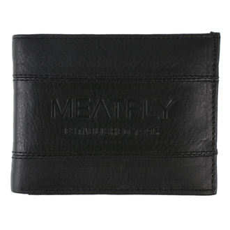 Portofel MEATFLY - Hurricane Leather - Black Leather , MEATFLY