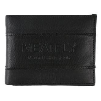 Portofel MEATFLY - Hurricane Leather - Black Leather , MEATFLY