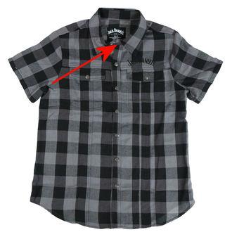 cămaşă bărbați Jack Daniels - Checks - Negru / Gri - DETERIORATĂ, JACK DANIELS