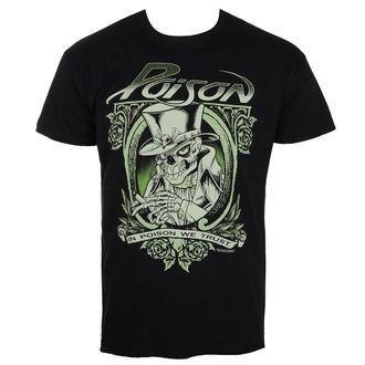 tricou stil metal bărbați Poison - Black - HYBRIS, HYBRIS, Poison