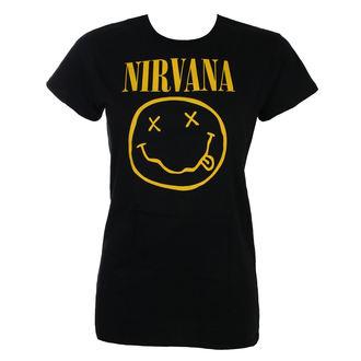 tricou stil metal femei Nirvana - SMILEY - LIVE NATION, LIVE NATION, Nirvana