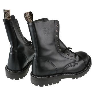 cizme piele bărbați - 10 dírkové černé ( 105/106 Black) - STEEL, STEEL