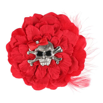Clamă de Păr Skull - Red, NNM