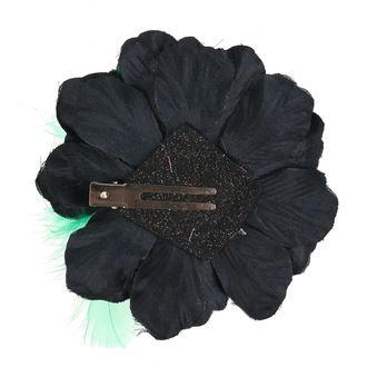 Clamă de Păr Skull - Black / Green, NNM