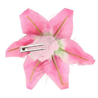 Clamă de Păr Skull - Flower - Pink