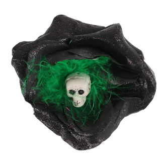 Clamă de Păr Skull - Black / Green Feathers