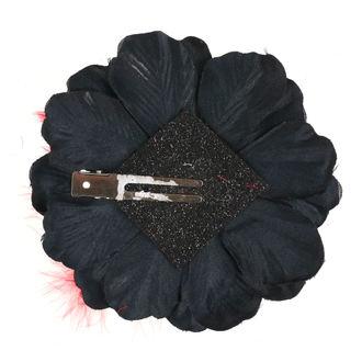 Clamă de Păr Skull - Black / Red Bow