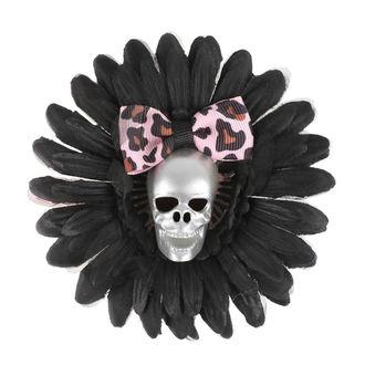 Clamă de Păr Skull - Black / Pink Bow