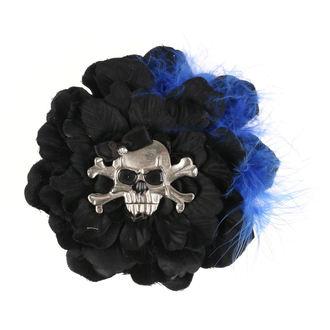 Clamă de Păr Skull - Black / Blue Feathers