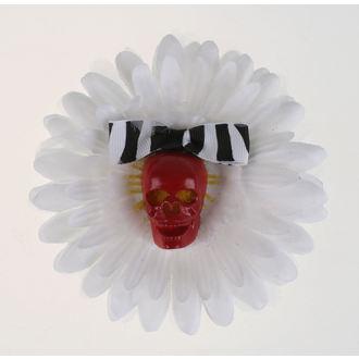Clamă de Păr Skull - White / Red, NNM