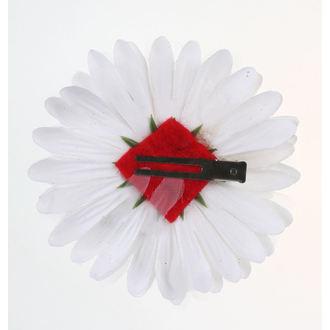 Clamă de Păr Skull - White / Red