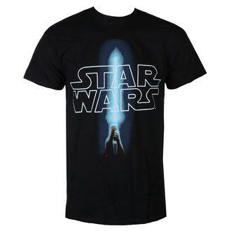 tricou cu tematică de film bărbați Star Wars - LOGO & SABER - LIVE NATION, LIVE NATION