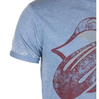 tricou stil metal bărbați Rolling Stones - Mid Blue - ROCK OFF, ROCK OFF, Rolling Stones