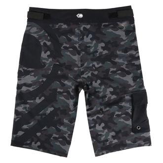 Pantaloni scurți bărbătești (pantaloni scurți înot) METAL MULISHA - SNARE - BLK, METAL MULISHA