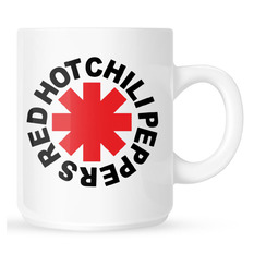 Cană Red Hot Chili Peppers - Original Logo Astrisk -White, NNM, Red Hot Chili Peppers