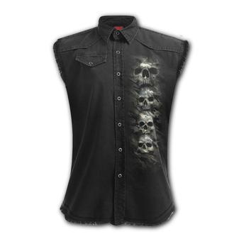 Tricou bărbătesc/ vestă fără mâneci SPIRAL - CAMO-SKULL, SPIRAL