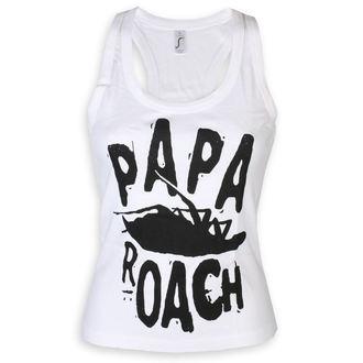 Maieu damă Papa Roach - Classic Logo -White - KINGS ROAD, KINGS ROAD, Papa Roach