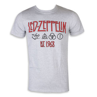 Tricou bărbătesc Led Zeppelin - Symbols Est 68 Sports Grey, NNM, Led Zeppelin