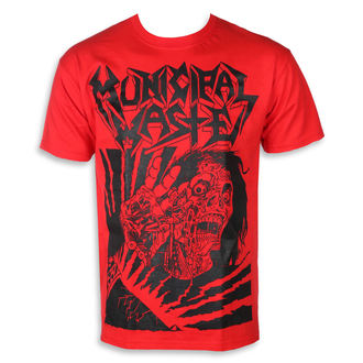 tricou stil metal bărbați Municipal Waste - Skelbot red -, Municipal Waste