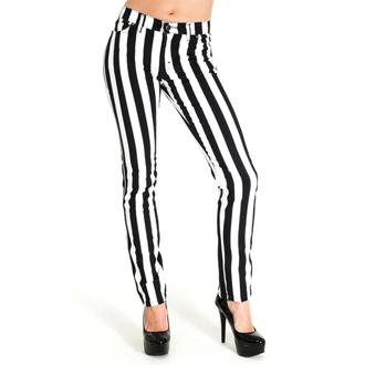 pantaloni bărbați 3RDAND56th - Stripe Skinny - Negru / alb, 3RDAND56th