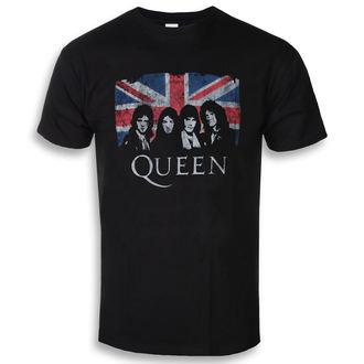 tricou stil metal bărbați Queen - Union Jack - ROCK OFF, ROCK OFF, Queen