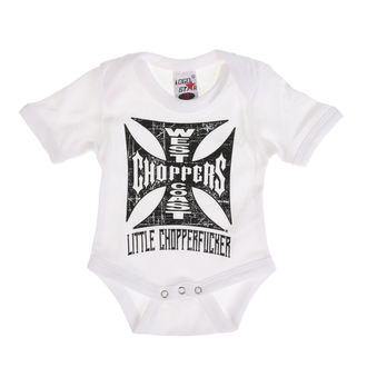 Body copii WEST COAST CHOPPERS - ONESIE LITTLE CHOPPERFUCKER BABY CREEPER - alb, West Coast Choppers
