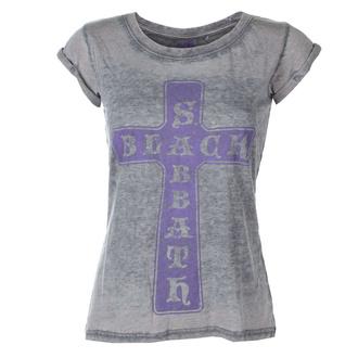 tricou stil metal femei Black Sabbath - Vintage Cross - ROCK OFF, ROCK OFF, Black Sabbath
