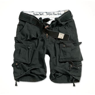 pantaloni scurți SURPLUS - DIVISION MIC DE STATURA - NEGRU, SURPLUS