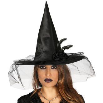 Pălărie de Vrăjitoare pentru Halloween BLACK WITCH FLOWER, NNM
