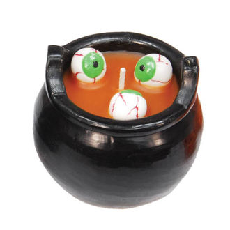 Lumânare HALLOWEEN CAULDRON WITH EYES - Orange