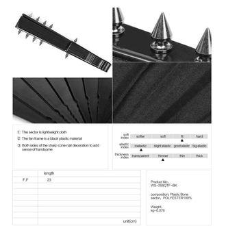 Ventilator PUNK RAVE - Deviless spiked fan - WS-268QTF BK
