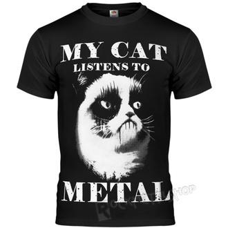tricou hardcore bărbați - MY CAT LISTENS TO METAL - AMENOMEN, AMENOMEN