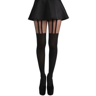 Colanți PAMELA MANN - 2 Stripe Suspender - Black, PAMELA MANN