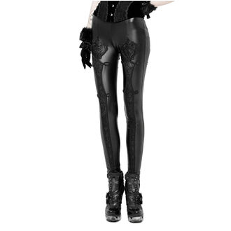 Pantaloni damă (colanți) PUNK RAVE - Black Soiree Gothic, PUNK RAVE