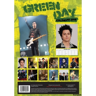 Calendar anul 2018 GREEN DAY, NNM, Green Day