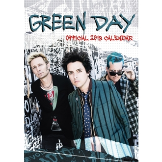 Calendar de perete 2018 GREEN DAY, NNM, Green Day