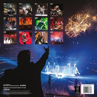 Perete Calendar 2018 METALLICA, Metallica