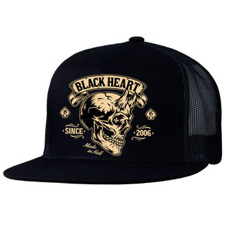 Șapcă BLACK HEART - DEVIL SKULL - BLACK, BLACK HEART