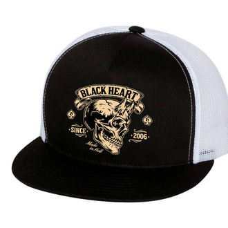 Șapcă BLACK HEART - DEVIL SKULL - WHITE, BLACK HEART
