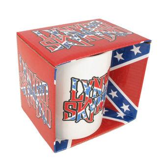 Cană Lynyrd Skynyrd - Confederate logo WHT, ROCK OFF, Lynyrd Skynyrd