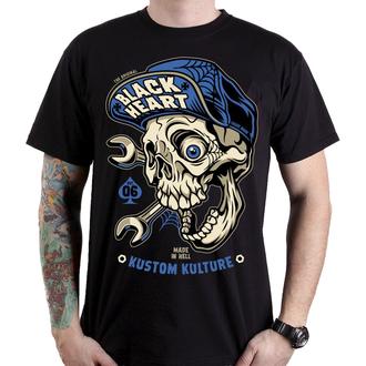 tricou de stradă bărbați - MECHANIC - BLACK HEART, BLACK HEART
