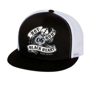 Șapcă BLACK HEART - LOLA -WHITE, BLACK HEART